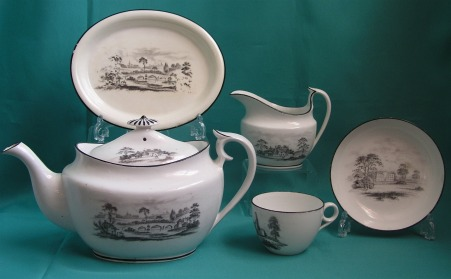 A Part Machin Porcelain Teaset, Pattern 184 c.1810-15