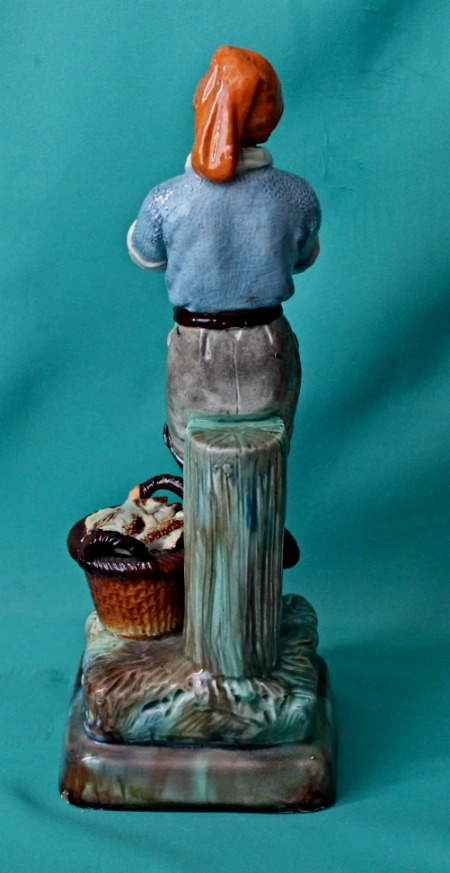 Continental Majolica Figure Of Fisherman C 1880