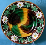 An English Majolica Bread Plate c.1880