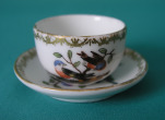 A Meissen Miniature Porcelain Cup and Saucer