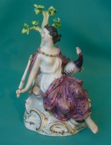 A Meissen porcelain figure of Juno, c.1860