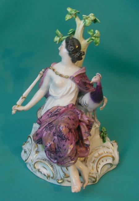 A Meissen Porcelain Figure Of Juno C 1860