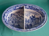 A Minton Blue & White Pearlware Dish