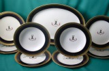A Minton Armorial Part Dinner Set c.1882