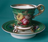 A Minton Cabinet Cup and Stand c.1825-30
