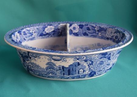 A Minton Blue & White Pearlware Dish