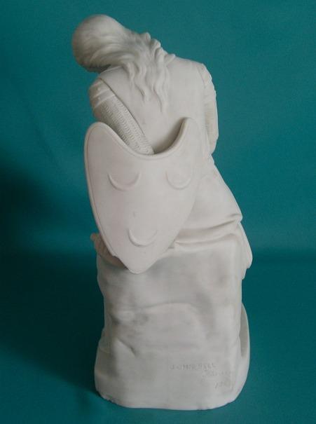 A Minton Parian Figure Of Clorinda Dated 1848