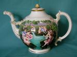 Naples-style porcelain teapot c.1880