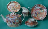 New Hall part teaset Pattern 425, c.1795-1800