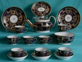 A New Hall Part Teaset pattern 538, c.1810-15.