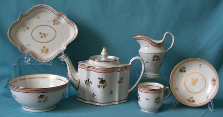 New Hall teaset Pattern 167 c. 1785-90