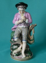 A Niderviller Porcelain Figure of a Shepherd Boy c.1800