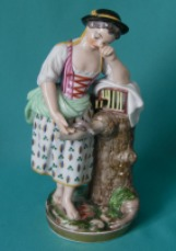 A Niderviller Porcelain Figure of a Girl c.1800