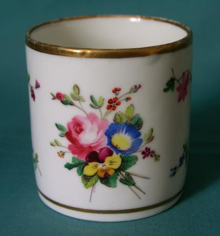 Antique Paris Porcelain Coffee Can C 1810 20