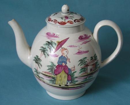 An English Pearlware Teapot c.1780