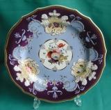 A very rare Ridgway armorial dessert plate c.1815
