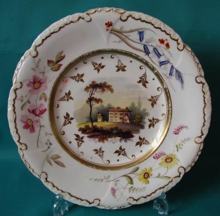 A Rockingham Porcelain Dessert plate c.1830