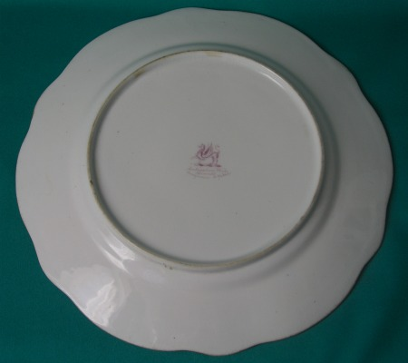 A Rockingham Porcelain Dessert Plate C 1835