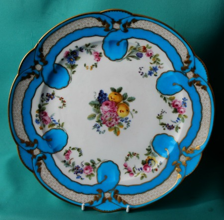 18th Century Sevres Porcelain Plate