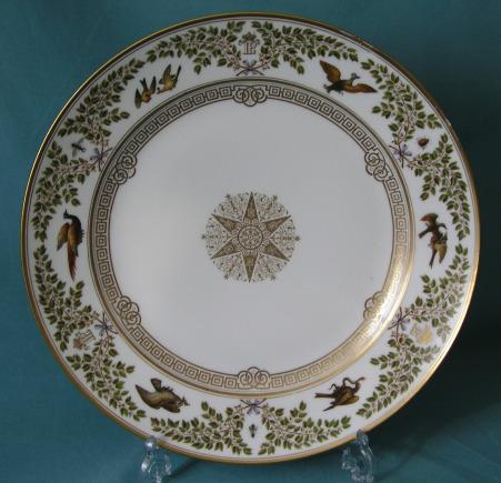 A Sevres Louis Philippe Porcelain Plate c.1839