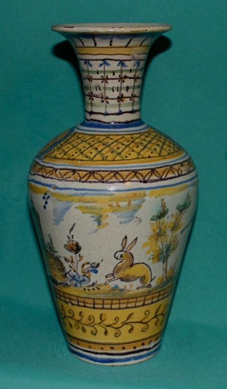 Antique Spanish Faience Vase