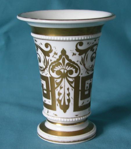 An English Porcelain Spill Vase C 1825