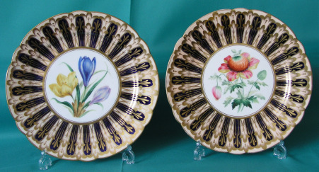 A Pair of Staffordshire Porcelain Plates c.1850