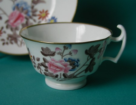 A Swansea Porcelain Cup And Saucer Quot Kingfisher Quot Pattern