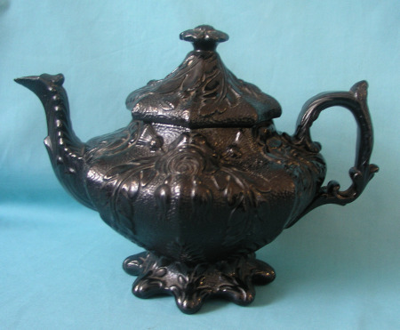 A Rare Scottish Black-Glazed Teapot c.1845