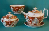 Thomas Rose Porcelain Tea set, Japan Pattern, c.1805-10