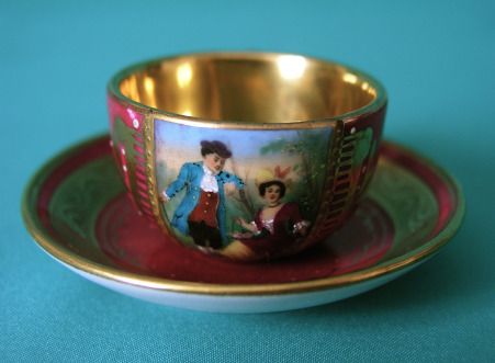 A 19th Century Vienna Miniature Cup and Saucer