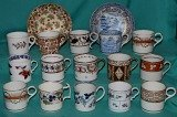 A Collection of 9 English Porcelain Coffee Cans c.1810-15