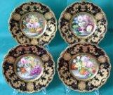 Four Ridgway Porcelain Dessert Plates c.1860