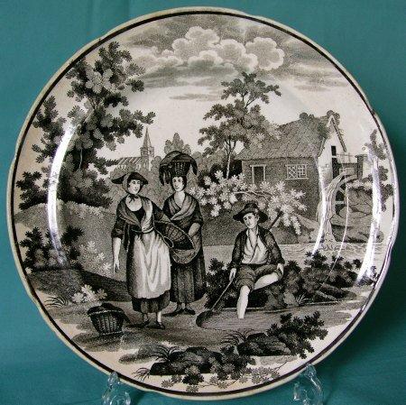 Swansea Pottery Plate, Dillwyn c.1824-31