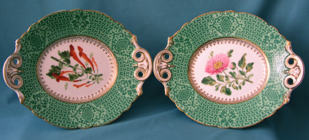 A Pair of Samuel Alckock Porcelain Dishes c. 1850