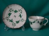 A Bristol Porcelain Cup and Saucer c.1775