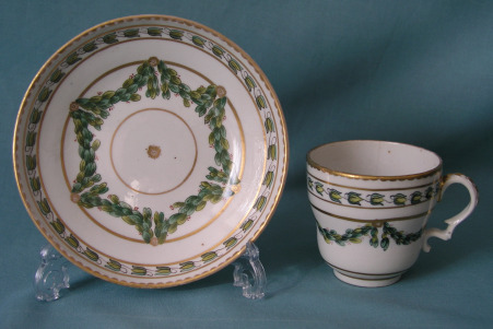 A Champion's Bristol Coffee Cup and Saucer c.1775