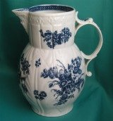 Caughley Cabbage Leaf Maskhead Jug