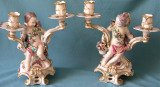 A Pair of Chelsea Figural Candelabra c.1765