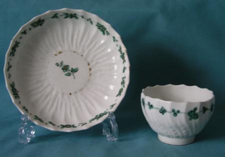 Chelsea-Derby Porcelain Tea bowl and Saucer c.1775