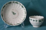 Chelsea-Derby Porcelain Teabowl and Saucer c.1775