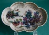 A London Decorate Chinese Porcelain Spoon Tray c.1760