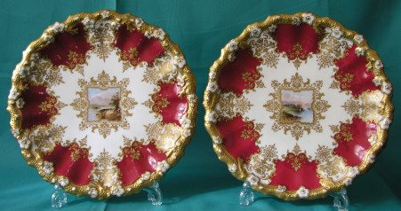 A Pair of Coalport Porcelain Plates c.1890-1900