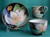 A Rare Coalport Porcelain Trio, Pattern 557, c.1810
