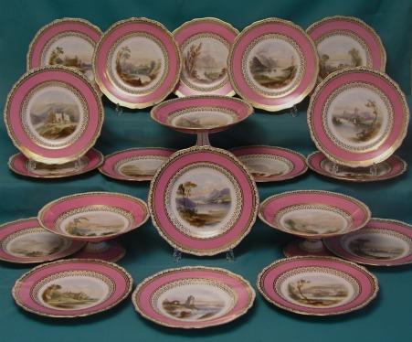 A Copeland part dessert service c.1852