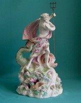 A Derby porcelain  figure of Neptune,  c.1760