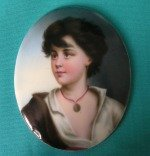 A KPM, Berlin Oval Porcelain Miniature Plaque c.1880