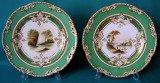 A Pair of Locket, Baguley & Cooper Porcelain Plates c.1855