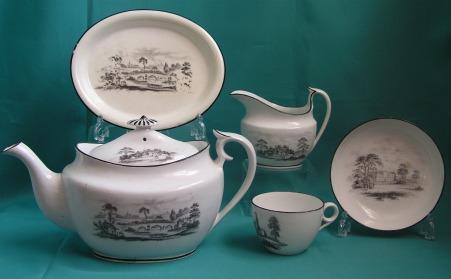 A Part Machin Porcelain Teaset, Pattern 184 c.1810-15