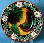 An English Majolica Bread Plate c.1880